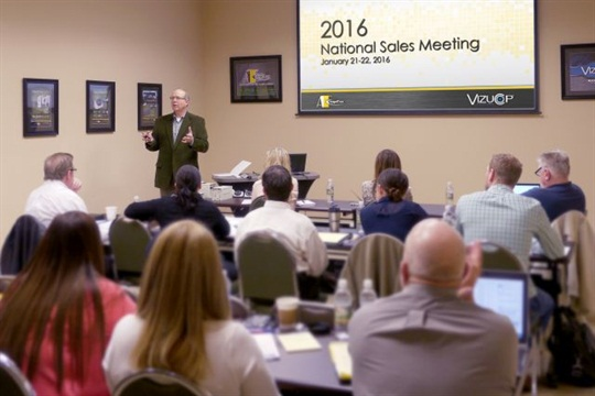 sales team planning meeting