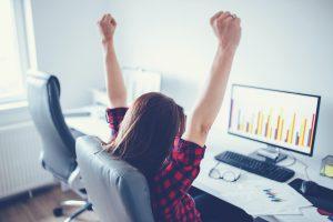 woman-celebrating-sales-goals