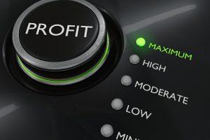 maximize sales, Maximum profit concept. Button for maximize income. 3D rendered illustration.