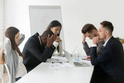 Frustrated Sales Team