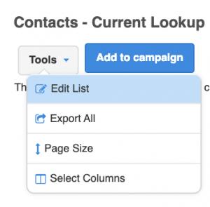 contacts current lookup