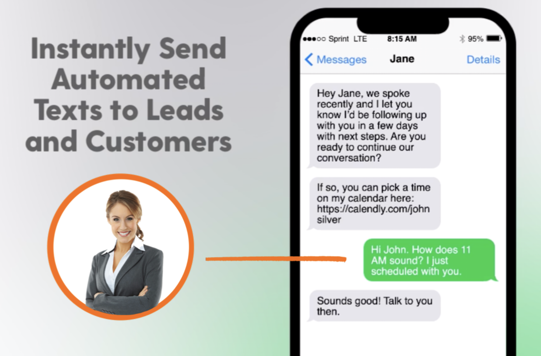 Text Message SMS Automation with SalesNexus CRM